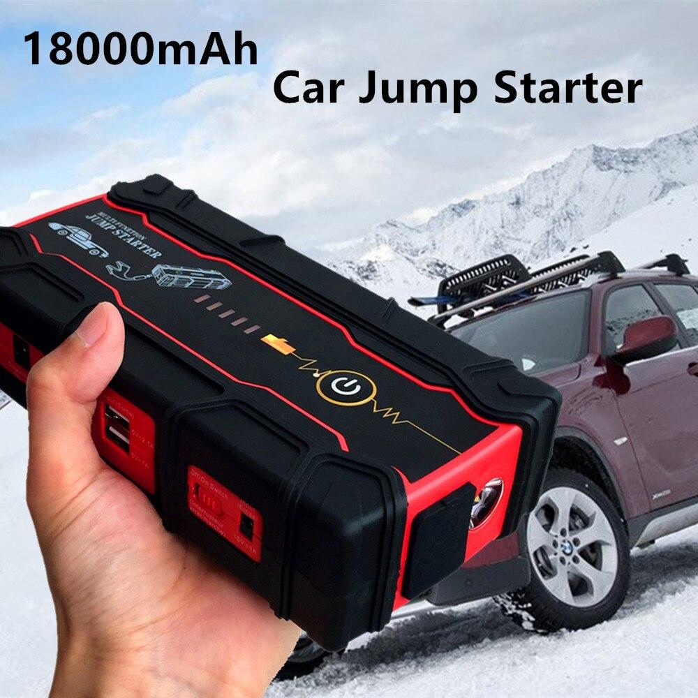 Super Kapazität 800A 12 v Auto Starthilfe Tragbare 18000 mah Ausgangs Gerät Power Bank Benzin Diesel Auto Ladegerät Für auto Batterie