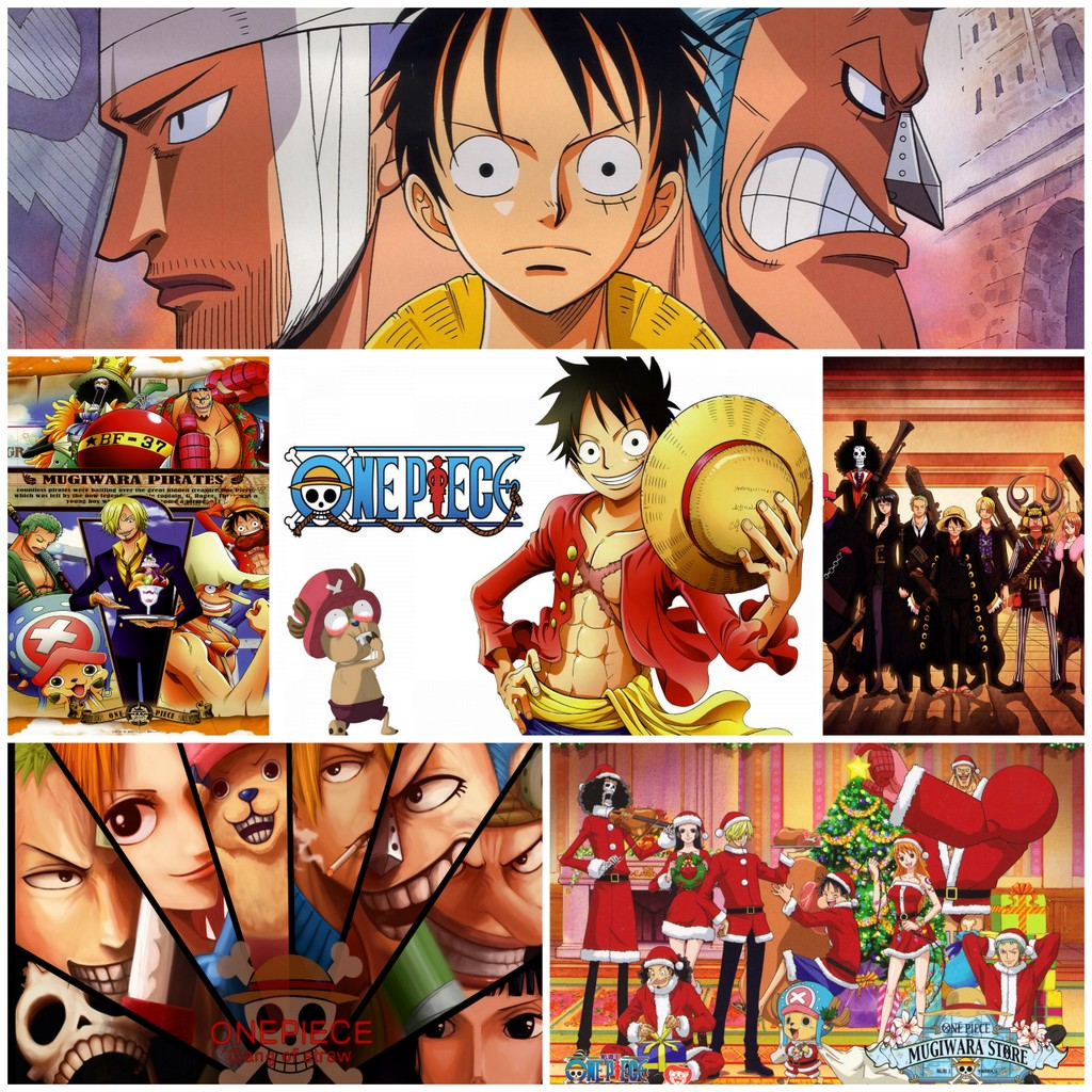 One Piece japanese anime posters Vintage Retro Matte Kraft Paper Antique Poster Wall Sticker Home Decora