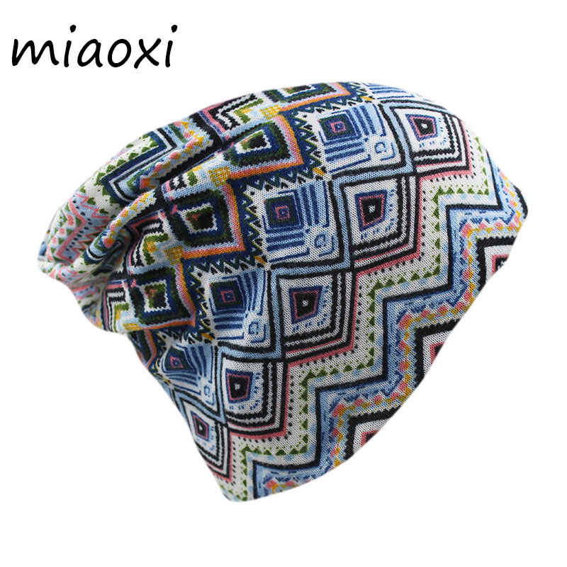 miaoxi Hip Hop Women Beauty Winter Warm Hat Scarf Floral Autumn Girls Cotton Caps Beanies Adult Two Used Fashion Gorros Hats miaoxi women autumn hat two used caps knitted scarf adult unisex casual letter beanies warm autumn beauty skullies hat girl cap