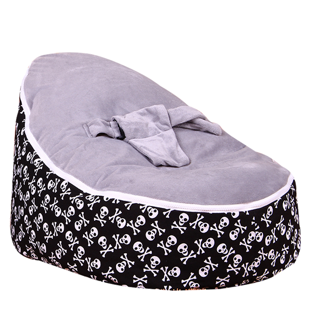 Levmoon Medium Skull Print Bean Bag Chair Kids Bed For Sleeping Portable Folding  Child Seat Sofa Zac Without The Filler #5