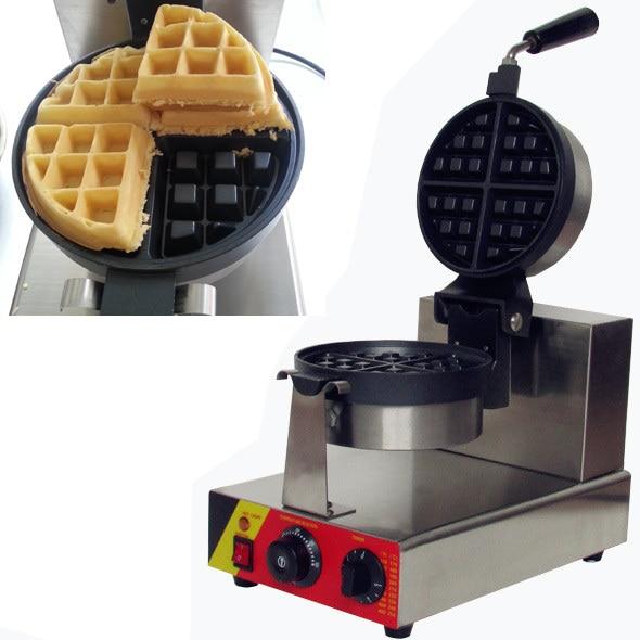 110v/220v  Electric 4-Slice commerical rotate waffle maker _belgium waffle maker