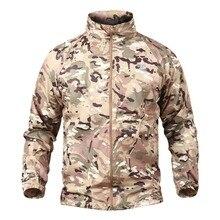 Мультикам лесной ветрозащитная куртка быстросохнущая кожа UPF50+ водонепроницаемый плащ ветровка тонкая военная одежда охотника