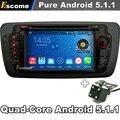 Чистая Android 5.1.1 Dvd-плеер Автомобиля Для Seat Ibiza 2009 2010 2011 2012 2013 2014 с GPS Автомобиля Авторадио Емкостный Экран Камеры