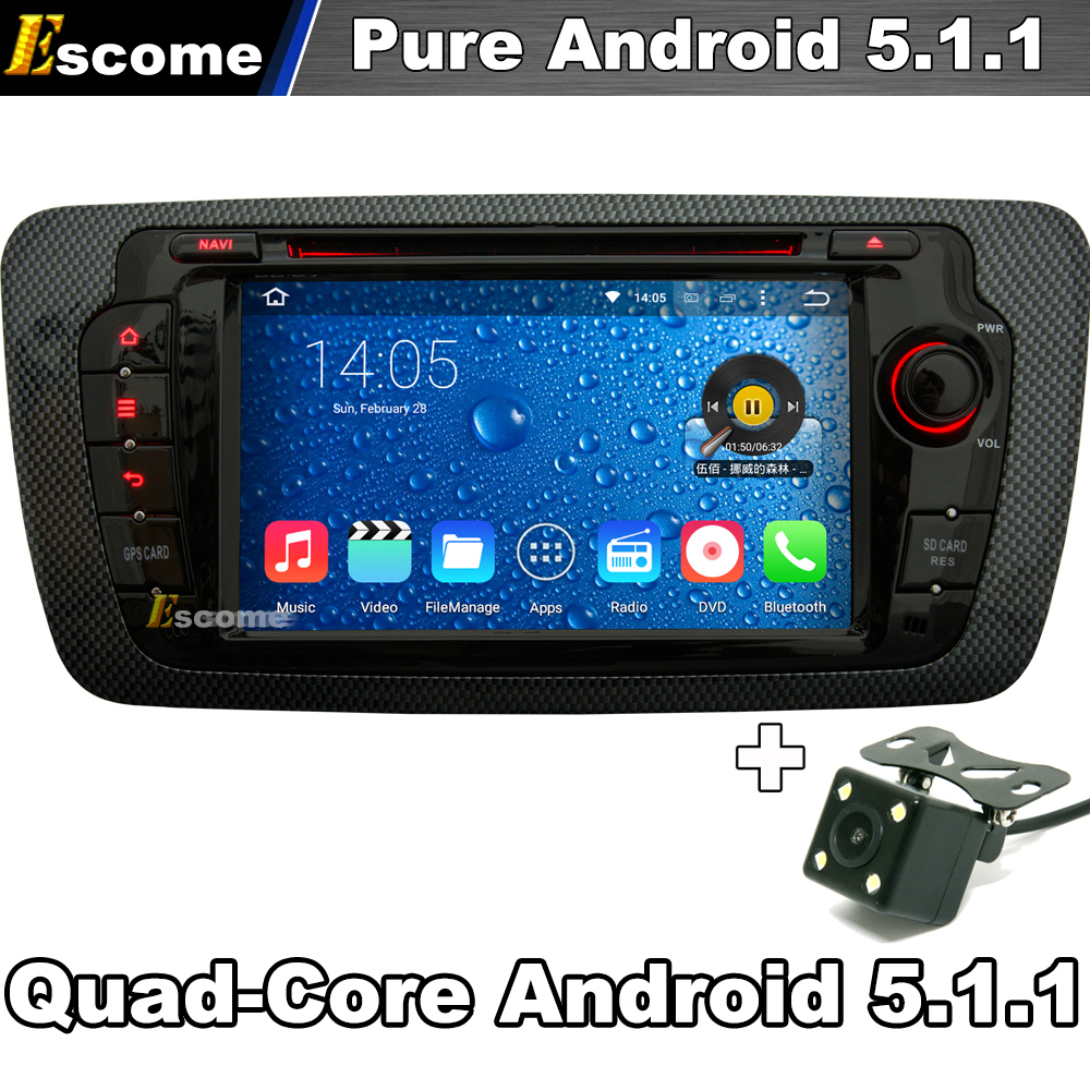 pure android 5 1 1 car dvd player for seat ibiza 2009 2010 2011 2012 2013 2014 with gps car. Black Bedroom Furniture Sets. Home Design Ideas