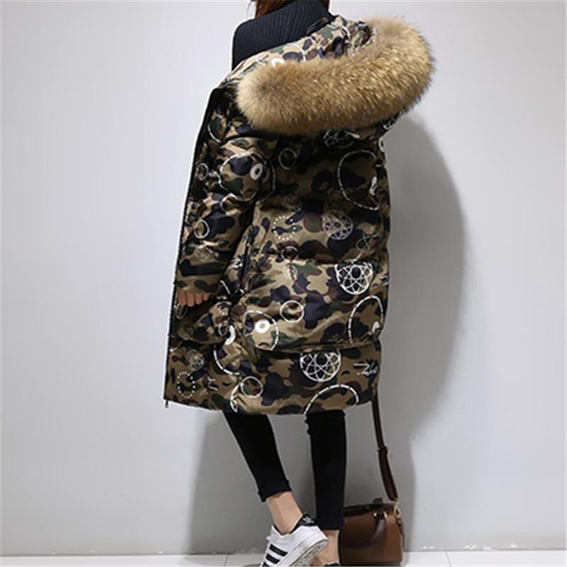 La Col De Longue Taille Coréenne Survêtement Grand D'hiver Camouflage Chaud Le Femmes Bas Vers Épaissir Parkas Lq347 Femelle Fourrure Doudoune Manteau Plus Shown As 087P6qw