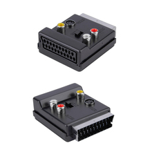 20 Pin SCART to 3 RCA S-Video Audio Video Adapter Cable Connector