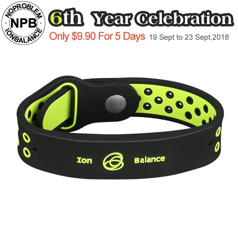 Noproblem tappeti antifatica di potere del silicone di sport di forma fisica ioni balance tourmaline germanio braccialetto di fascini braccialetti del wristband