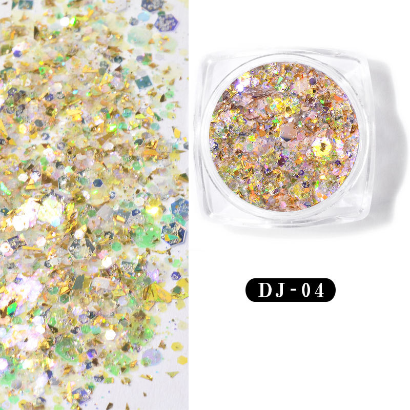 12 color Shining Light Onion Powder Ultra thin Nail Glitter Sequins KG66 in Acrylic Powders Liquids from Beauty Health