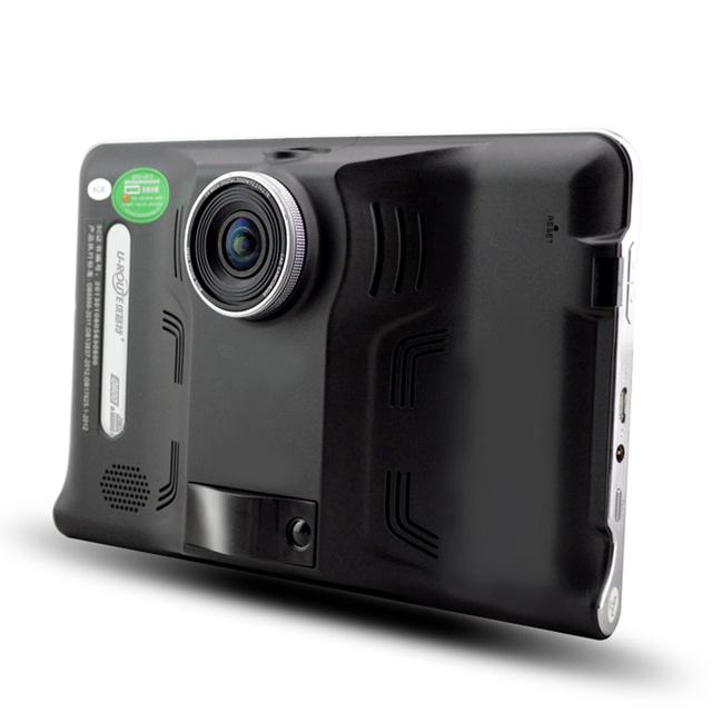 7.0 pulgadas Android de Navegación GPS Del Coche detector de Radar DVR Dash Video de la cámara 16 GB de visión Trasera Camión GPS FM AVIN WIFI