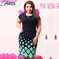 Women Print Plus Size Dress 6XL 5XL Fashion Elegant Print O Neck Summer Casual Pencil Office Party Big Size Dress 4XL Clothing