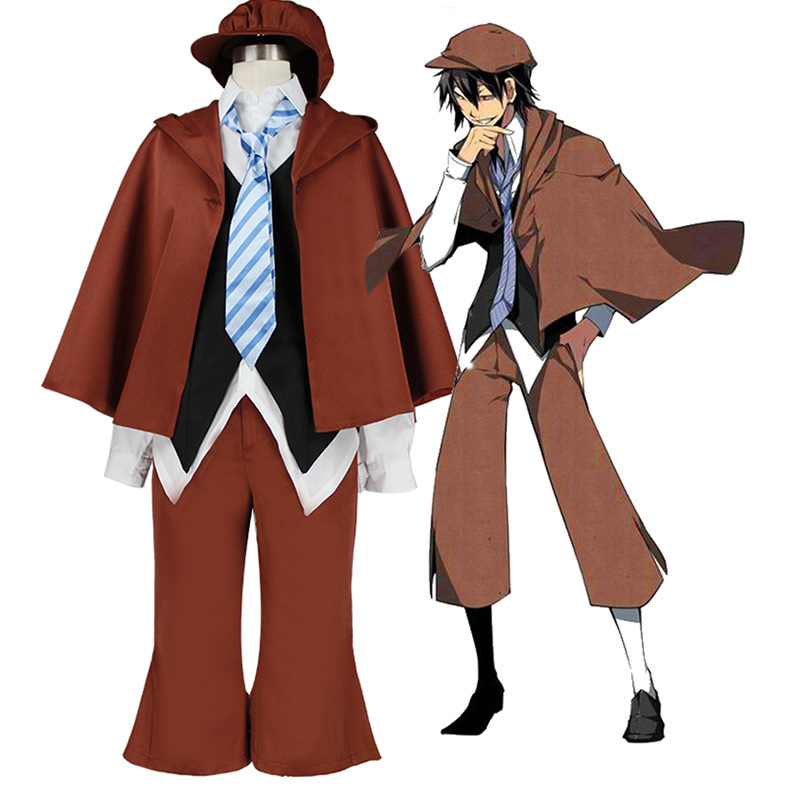 Anime Bungo Stray Dogs Cosplay Costumes Ranpo Edogawa Uniform Suit Outfit Set Man Suit