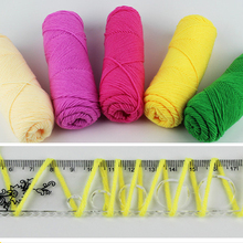 wholesale 3 balls/lot natural soft thick Cotton yarn for knitting Polyester crochet yarn weave thread
