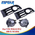 2X Car Bumper Grille Fog Lamps Front Fog Grill Lights For VW Polo 9N1 HB E-MARK 2001 - 2005 Car Accessory #994