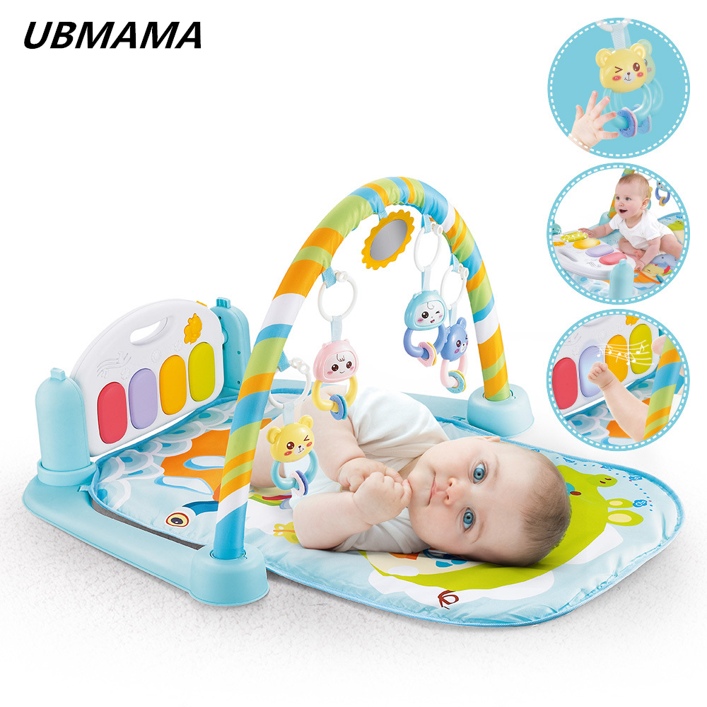Baby gym mat kids toys with piano newborn baby fitness rack Baby Activity Gym ma