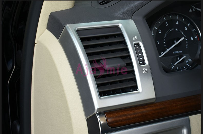 2010 2018 Interior Moulding Trims Handle holder Gear Vent Cover Chrome Car Styling For Toyota LC Land Cruiser 200 Accessories in Chromium Styling from Automobiles Motorcycles