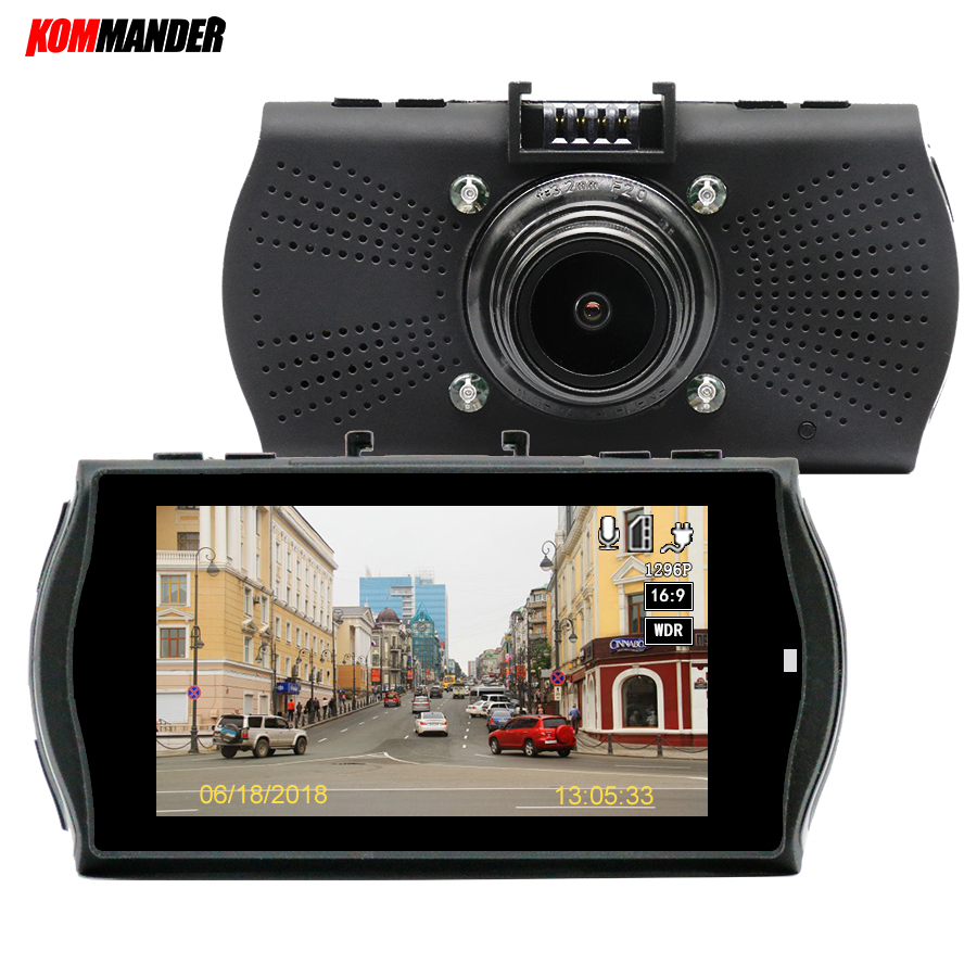 цена на Kommander Car DVR GPS Camera with Speedcam 1296P Full HD Ambarella A7LA70 60Fps DVR Recorder Dash Cam