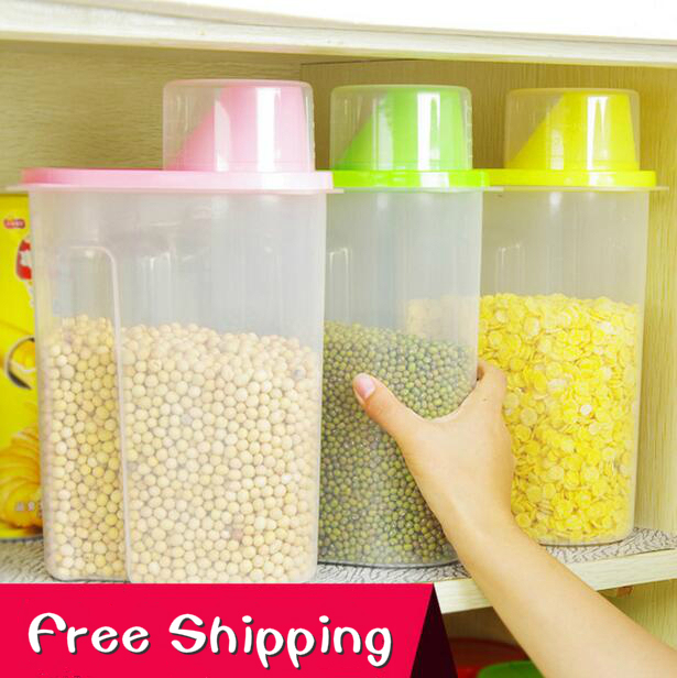 Attrayant Extra Large Sealed Jar Food Container Cereals Plastic Box Storage Tank Dry  Food Storage Cans 2