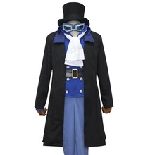 Anime sabo from One Piece Cosplay Costume coat vest shirt pant tie uniform set