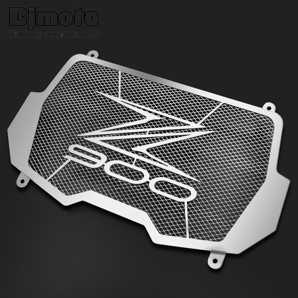 BJMOTO Motorcycle Radiator Protector Cover Bezel Grille For Kawasaki Z900 2017 Motorbike Engine Grill Guard Covers motorcycle stainless steel for kawasaki radiator grille guard grenaj radiatore covers protector accessories z750 z800 z1000
