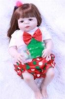 Всего тела силиконовые для новорожденных, для девочек куклы 22 волосы с корнями reborn Детские куклы игрушки Bebe, живой bonucas возрождённая para венд