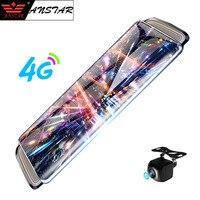 Anstar 10 4G Mirror Car DVR Android Dual Lens Video Recorder HD 1080P Android WiFi Car Camera GPS Registrar Dash Cam Rear View