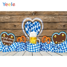 Yeele Oktoberfest Carnival Photocall Beer Wood Food Photography Backdrops Personalized Photographic Backgrounds For Photo Studio