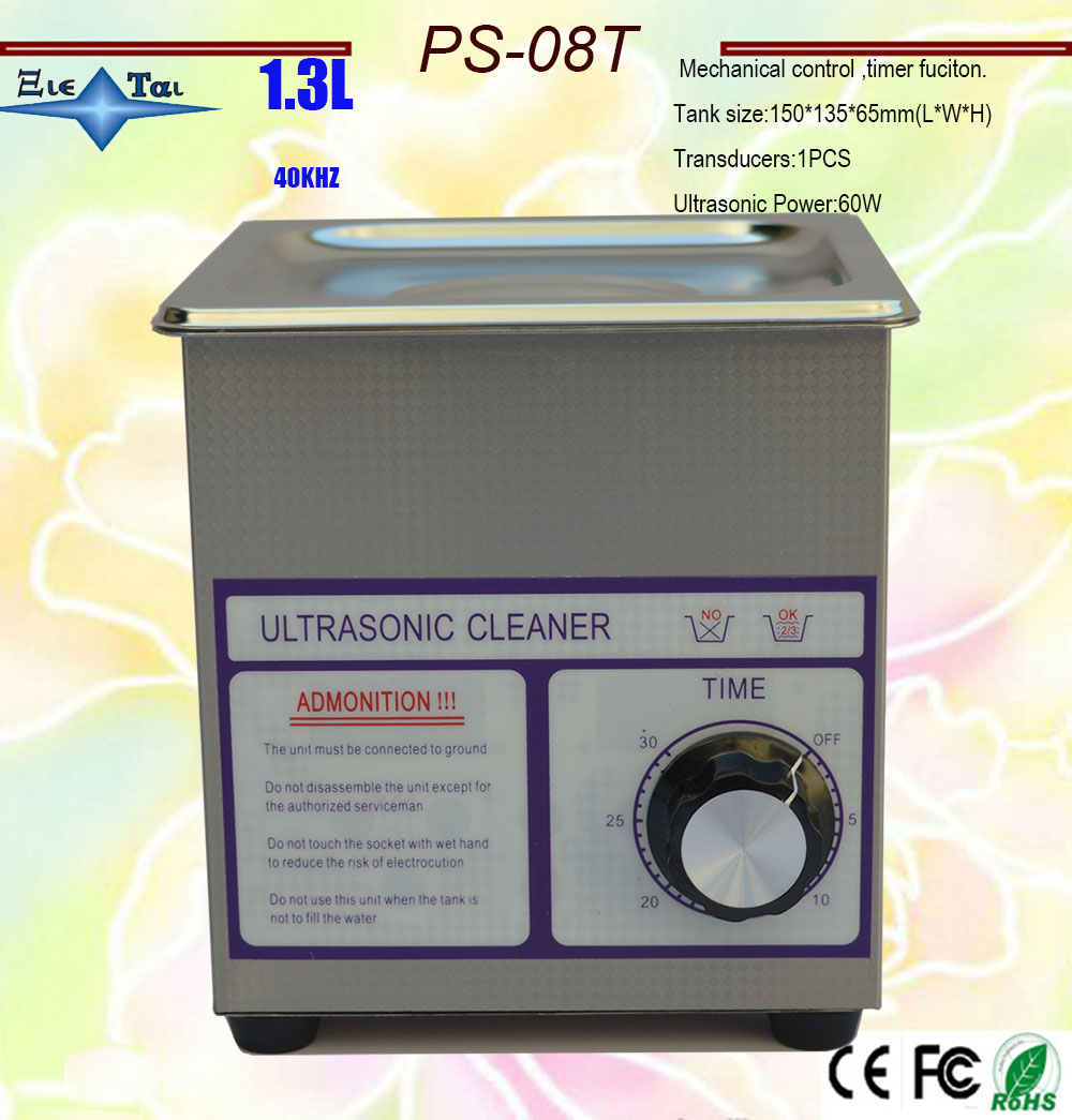 globe AC110/220V timer ultrasonic cleaner 1.3L PS 08T 60w 40khz  for jewely  gleases  watches free basker|cleaner wax|mini led light keychain|mini vacuum cleaner - title=