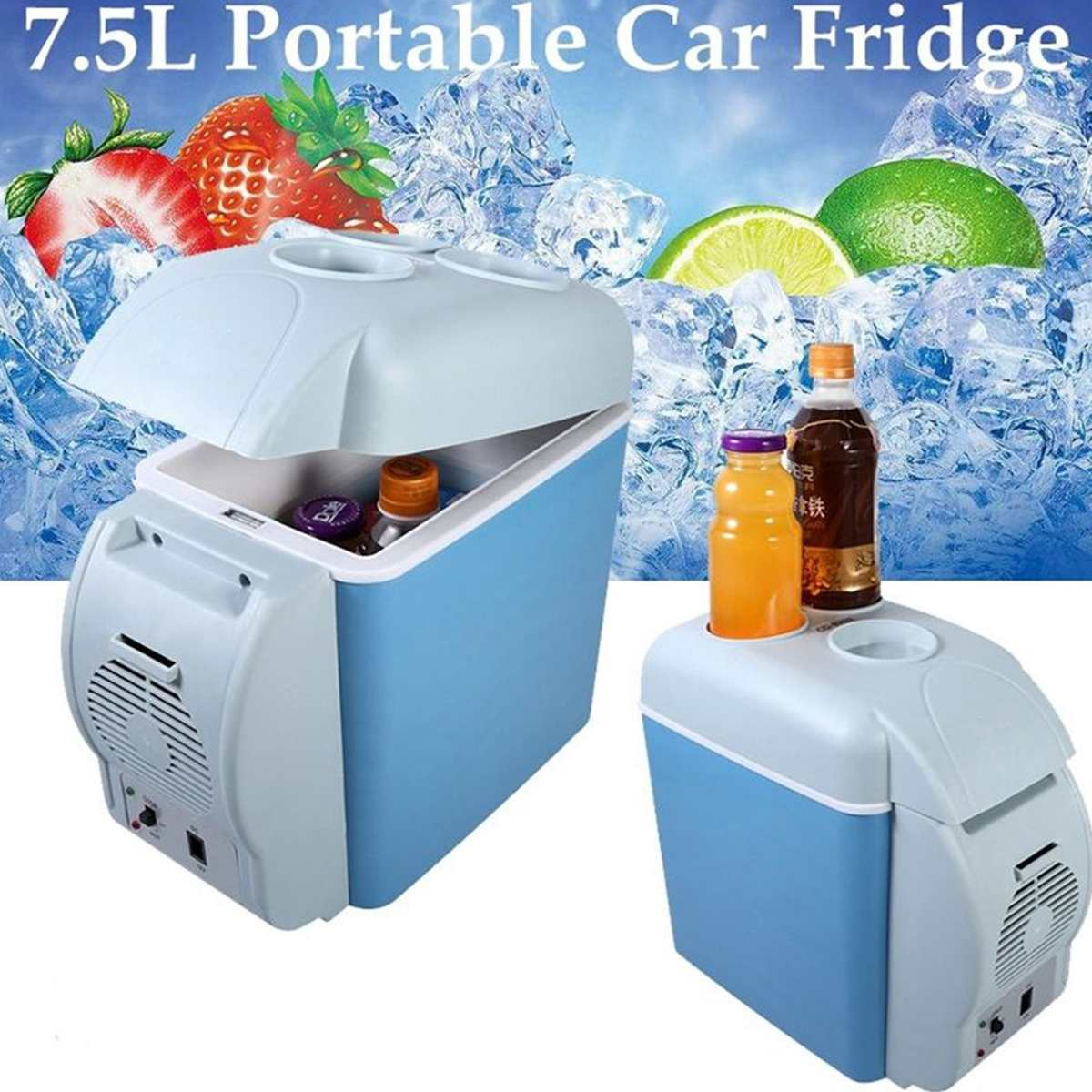 7.5L 12V Truck car fridge freezer Car Freezer Fridge Travel Camping UK