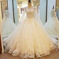 Великолепные пикантные свадебные туфли See Through Назад бальный наряд на шнуровке торжественное платье с длинной накидкой Vestidos De Noiva