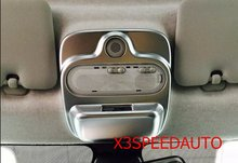 Free Shipping Chromed Interior Front Reading Light Cover Trim For Mercedes-Benz Smart Fortwo 2015