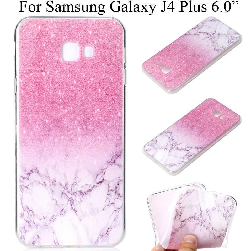 สำหรับ Samsung Galaxy J4 Plus Soft Tpu ป้องกันแขนโปร่งใส SamsungJ4 Plus J4 + J4Plus Shell Capa fundas