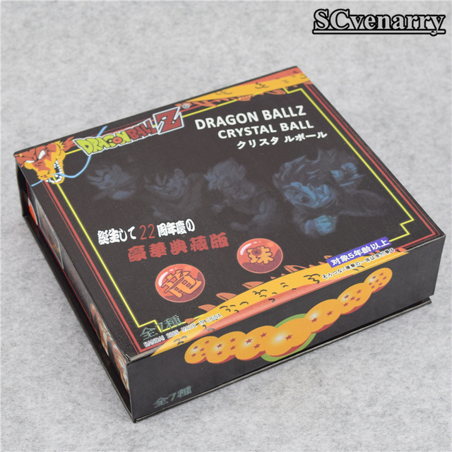 7pcs Set 3.5CM Dragon Ball Z 7 Stars Crystal Ball Toy