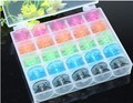 25Pcs/Set Storage Box for Sewing Machine Empty Bobbins Sewing Machine Spools Colorful Plastic Case