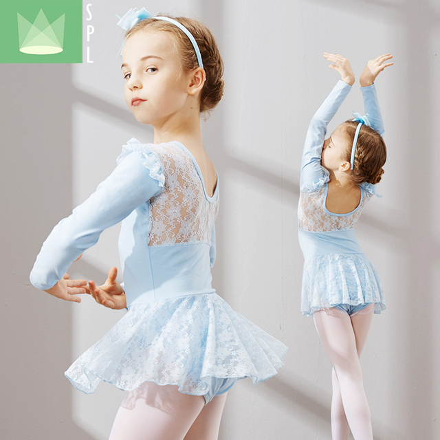 d4718a5931f4 Ballet Tutu Kids Ballet Lace Costume Girls Dance Leotard Tutu Skirt ...