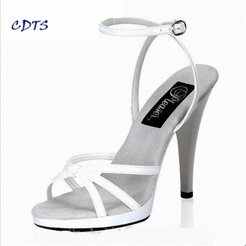 rosso 45 Plus Tacchi 13 Zapatos Donna Il Nero 35 Scarpe Sottili Cm Cdts Sandali Mujer bianco Pompe 2016 Estate Piattaforma 46 ZOnXHg0g