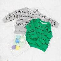 EnkeliBB Children Cool Design Sweatshirt Bobo Choses Kids Clothes Letter Print Loose Style Sweatshirts Baby Girls