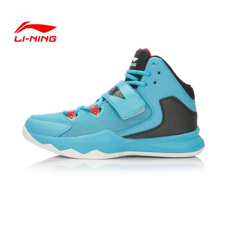 ФОТО LI-NING Original Men's Basketball Shoes Outdoor Cushioning High Sneakers LI-NING CLOUD Footwear Sports Shoes LINING ABFL009