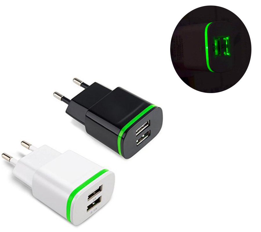 5V 2.1A Smart Travel Dual 2 USB Charger Adapter Wall Portable EU Plug Mobile Phone for Sony E1 T2 Ultra Dual Z1 Z2 Z3 Compact