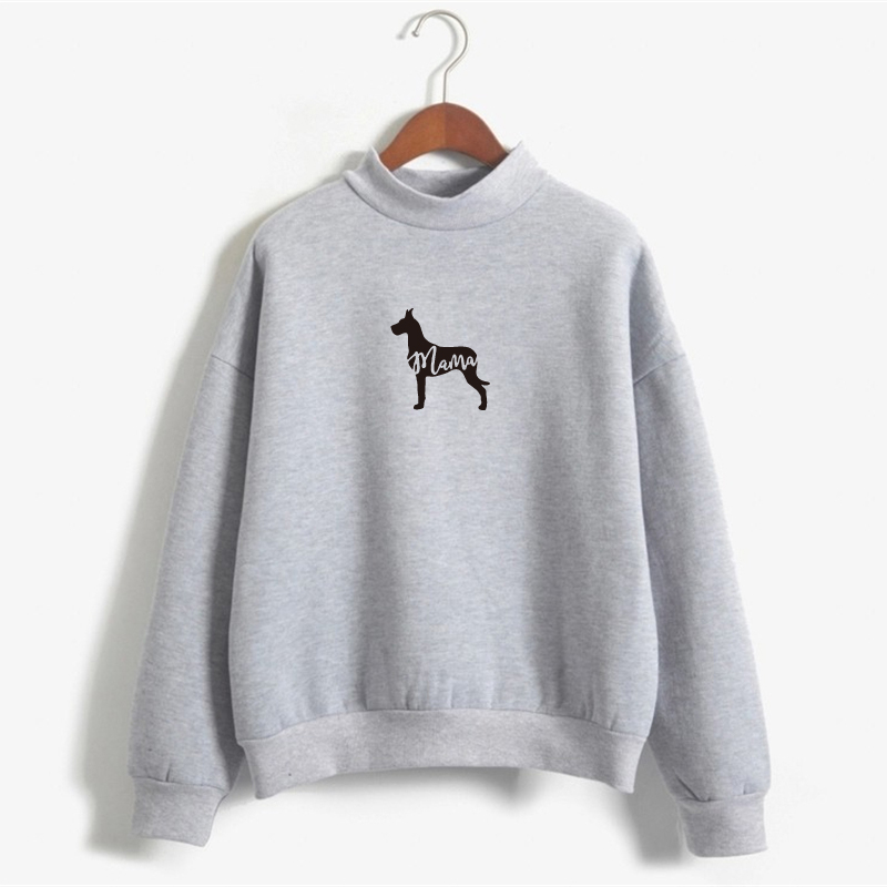 Cute Womens Sweatshirts Hoodies Plus Size Great Dane MAMA Crewneck ...