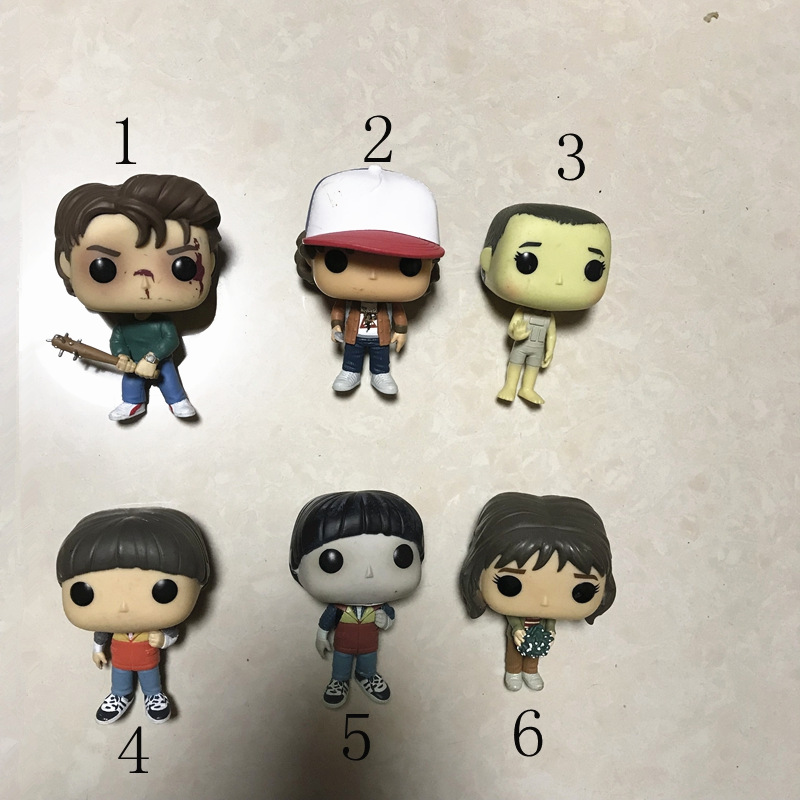 Exclusive Funko POP TV: Stranger things - Eleven, Will, Joyce, Steve Action Figure Collectible Model Toy No box Hot funko pop movies walking dead hershel greene action figure model high quality free freight