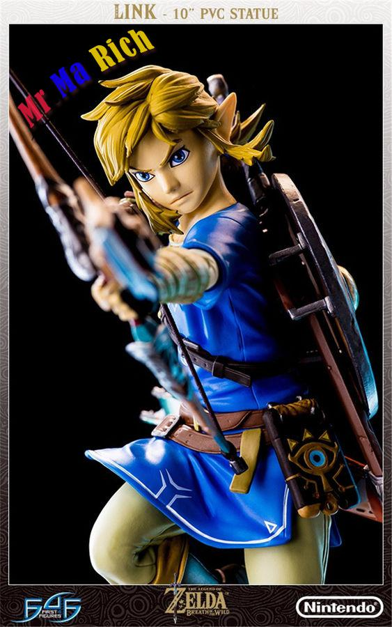 """10"""" First 4 Figures The Zelda: Breath of the Wild LINK statue the legend of zelda breath of the wild link statue pvc painted figure collectible model toy 10inch"""