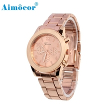 2017 Newly Designed Relogio Feminino Clock Hot Ladies Women Girl Unisex Stainless Steel Quartz Wrist Watch Gift 322