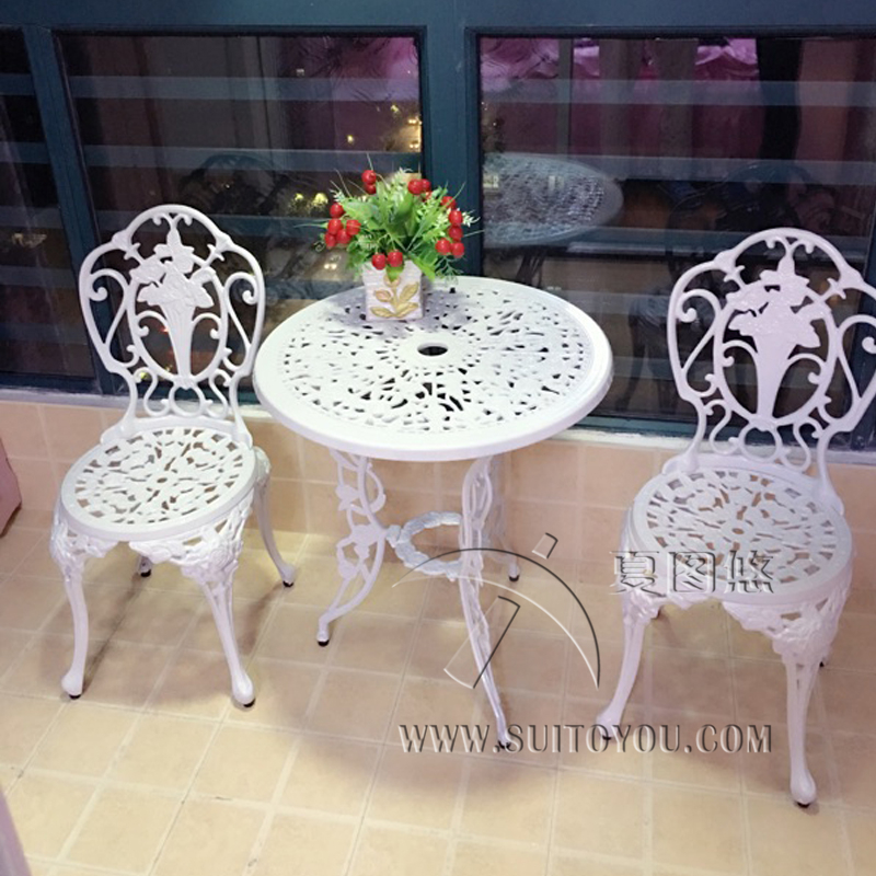 3-piece White Bistro Patio Set Table and 2 May Chairs Set Furniture Garden Outdoor Seat south shore 3 piece bookcase set in pure white