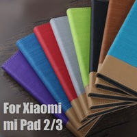 Cubierta para xiaomi mi pad 3 2 Caso para Xiaomi mipad 2 3 7.9 pulgadas de la Tableta de LA PU de Cuero Business Notebook Casos Del Tirón Del Soporte Cubiertas bolsa