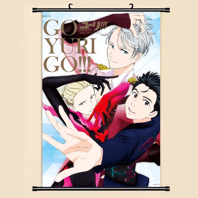 Manga Yuri On Ice Wall Scroll Painting 4060 Picture Wallpaper Stickers Poster 003