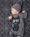 2017 new baby boy moda y ropa de niña de manga larga de dibujos animados patrón de una sola pieza del bebé de los mamelucos recién nacido ropa