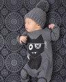 2017 nova moda bebê menino e menina roupas padrão dos desenhos animados manga longa de uma peça macacão de bebê recém-nascido roupa infantil