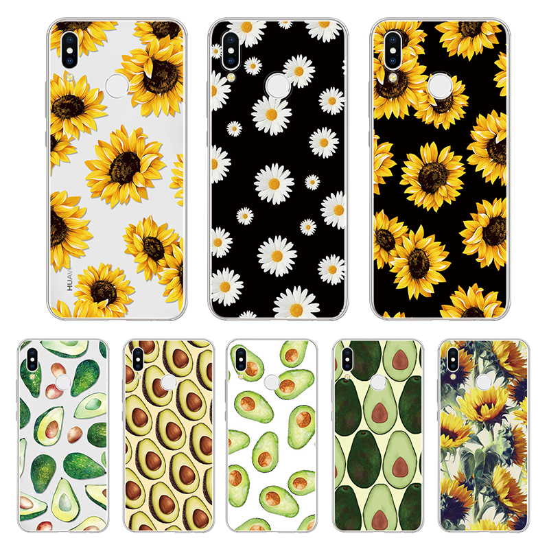 Sunflower for <font><b>Huawei</b></font> P Smart Y6 Pro <font><b>Y9</b></font> <font><b>2019</b></font> P8 P9 P10 P20 P30 Pro Mate 20 Lite Nova 3i For Honor 8X 7A 10i TPU Avocado <font><b>Cover</b></font> image