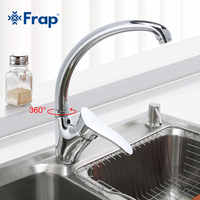 Modern Style Kitchen Faucet Chrome Finish Single Handle Mixer Cold And Hot Kitchen Tap 360 Rotation