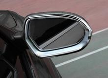 2Pcs Car styling for Audi A6L  2012-2016 ABS rearview mirror frame abs chrome door cover trim accessories auto sticker